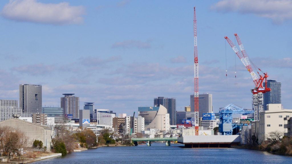 中川運河の工事